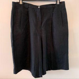 Olsen Bermuda Shorts Black Linen Sz 16